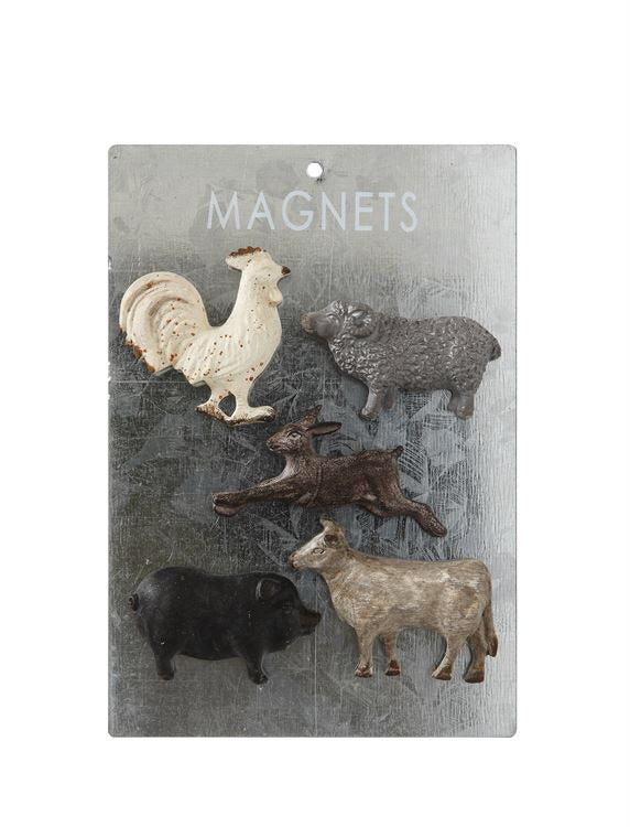 Pewter Animal Magnets