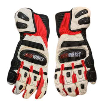 WHITE LEATHER GLOVES - MaxWrist