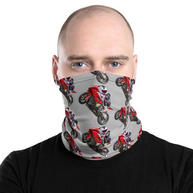 MaxWheelie - Neck Gaiter on grey - NEW!