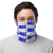 🔷 BLUE MAXWRIST Neck Gaiter - small pattern on grey