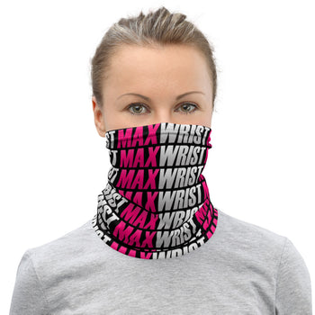 MW PINK💕 Lg. Pattern Pink on Black Neck Gaiter