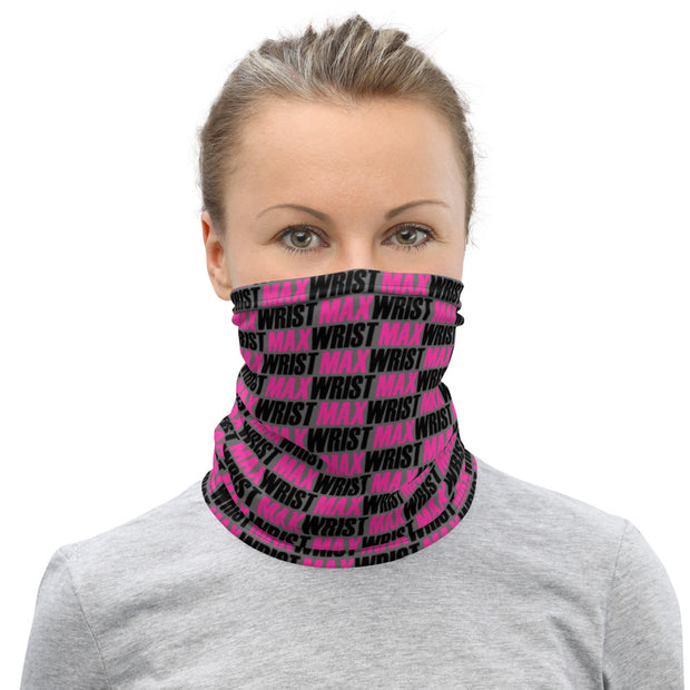 MW PINK💕 - Neck Gaiter (PINK and BLACK on Grey)