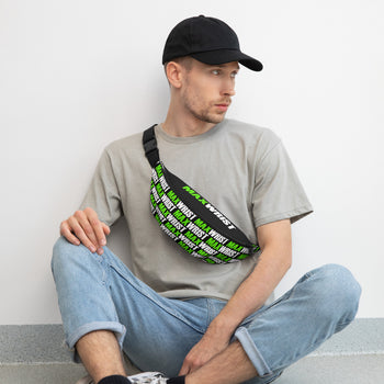 NEW! Florescent Green and WHITE on BLACK MAXWRIST - Fanny Pack