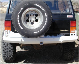 jeep cherokee xj bumper rear stealth wit tire carrier KOR-3260