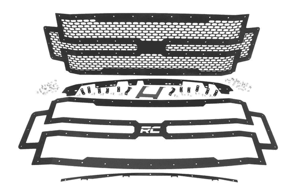Rough Country Super Duty 2017-2018 Ford Mesh Grille | F250 | F350 - KevinsOffroad.com / Overland-Ready.com