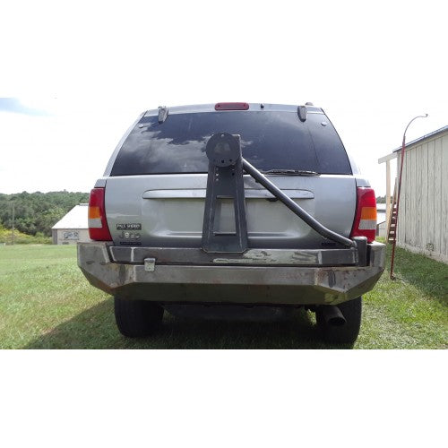 Jeep WJ Bumper: WJ Grand Cherokee Rear Bumper WITH Tire Carrier Extreme DutyBumpers Towing & Recovery - KevinsOffroad.com / Overland-Ready.com