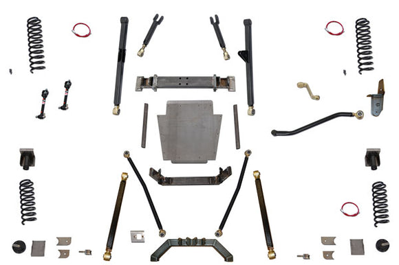 Clayton Off-Road Jeep XJ Cherokee Long Arm Lift Kit W/ Rear Coil Conversion 1984-2001 - KevinsOffroad.com / Overland-Ready.com