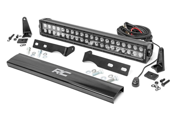 WK2 Grand Cherokee Jeep 20in LED Bumper Kit | Black - Chrome Series - KevinsOffroad.com / Overland-Ready.com