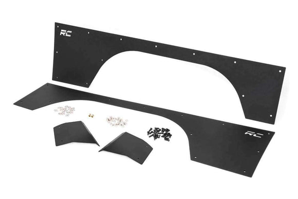 XJ Front & Rear Quarter Panel Armor 1984-1996 | Rough Country - KevinsOffroad.com / Overland-Ready.com
