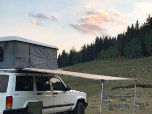Gutter Mount Jeep Cherokee XJ RoofNest Roof Top Tent Base Roof Rack for RTT - KevinsOffroad.com / Overland-Ready.com