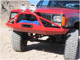 Protofab Jeep XJ Rocksolid Front Winch Bumper w/ D-Ring Tabs POWDERCOATED - KevinsOffroad.com / Overland-Ready.com