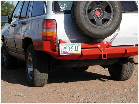 Protofab Jeep ZJ Grand Cherokee Rear Bumper WITH Tire Carrier  (with D-Rings)Bumpers Towing & Recovery - KevinsOffroad.com / Overland-Ready.com
