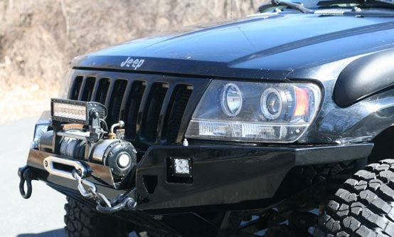 WJ Grand Cherokee Front Low Profile Winch Bumper (w/ D-Rings)Bumpers Towing & Recovery - KevinsOffroad.com / Overland-Ready.com