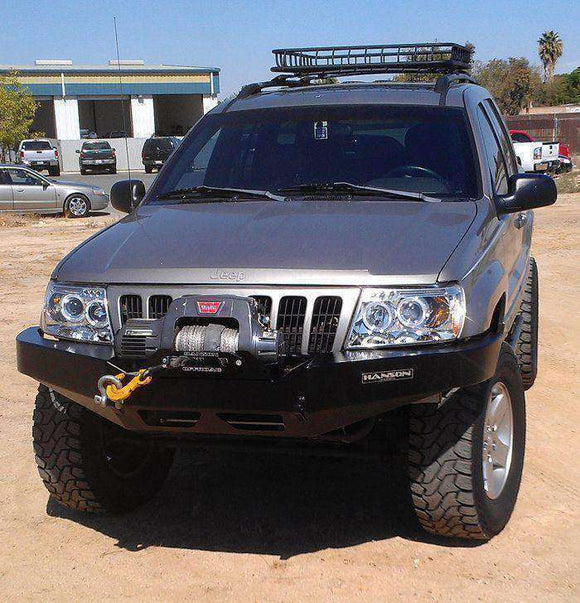 WJ Grand Cherokee Jeep Front Bumper w/ Winch Mount - KevinsOffroad.com / Overland-Ready.com