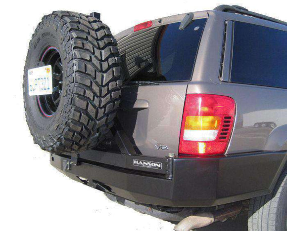 WJ Grand Cherokee Rear Bumper with Tire Carrier - KevinsOffroad.com / Overland-Ready.com