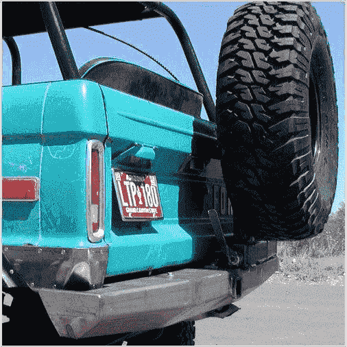 Early Bronco Rear Bumper with Tire Carrier - KevinsOffroad.com / Overland-Ready.com