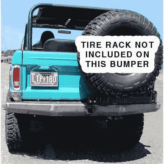 Protofab Early Bronco Rear Bumper Without Tire Carrier - KevinsOffroad.com / Overland-Ready.com