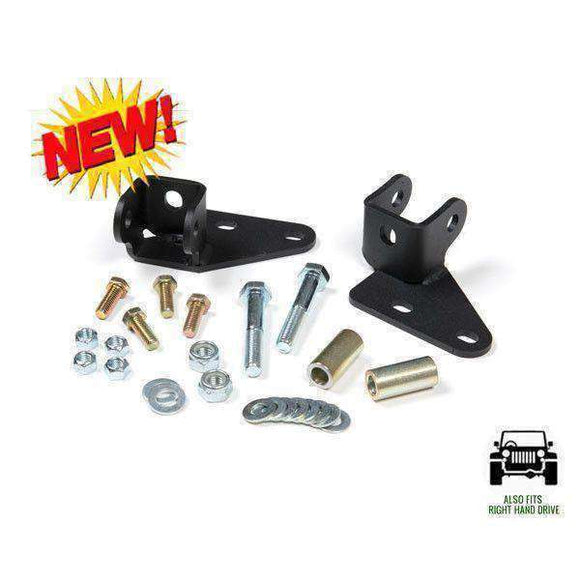 Front Shock Relocation Jeep Wrangler JK 2007-2014 FREE SHIPPING - KevinsOffroad.com / Overland-Ready.com