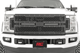 Super Duty Ford Mesh Grill with Dual 12in Black Series LED Light Bar - KevinsOffroad.com / Overland-Ready.com