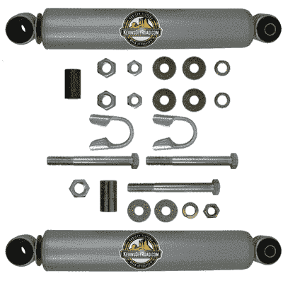 KOR-2052 Dual Steering Stabilizer Kit: WJ Grand Cherokee ONLY (Stock Track Bar or 1