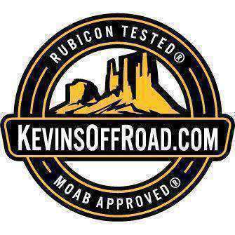 ''Rubicon Tested Moab Approved'' KOR Small-size Logo Stickers - KevinsOffroad.com / Overland-Ready.com