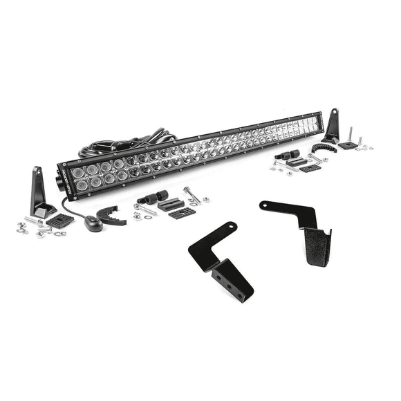 Toyota 30in LED Bumper Kit for 07-14 FJ Cruiser - Chrome Series - KevinsOffroad.com / Overland-Ready.com
