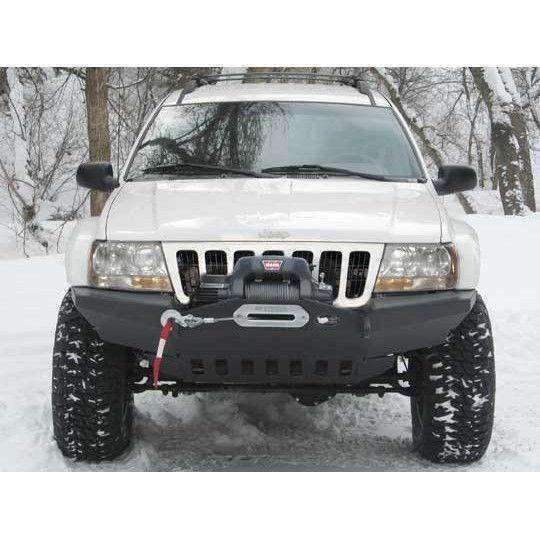 WJ Grand Cherokee Front Winch Bumper w/o light barBumpers Towing & Recovery - KevinsOffroad.com / Overland-Ready.com