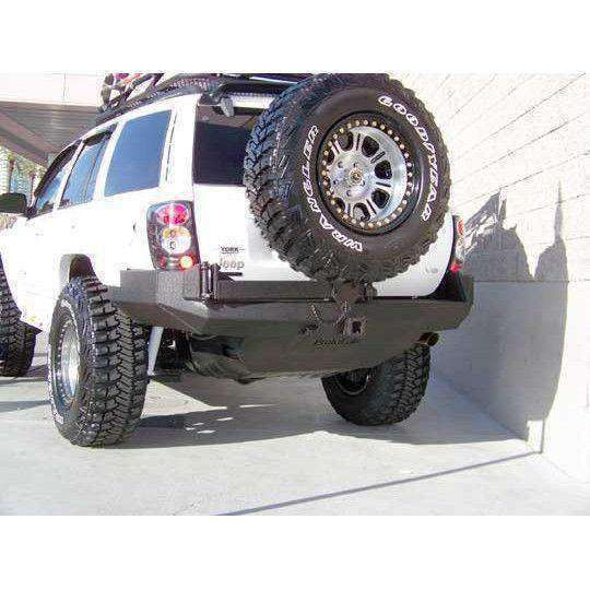 Protofab Jeep WJ Grand Cherokee Rear Bumper with Tire Carrier - KevinsOffroad.com / Overland-Ready.com