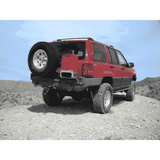 Protofab Jeep ZJ Grand Cherokee Rear Bumper WITH Tire Carrier and Jerry Can Rack - Stealth - KevinsOffroad.com / Overland-Ready.com