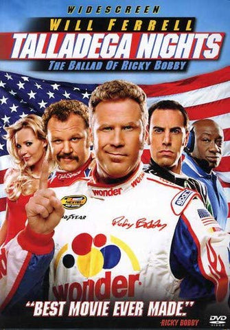 BLU-RAY TITLE:  Talladega Nights: The Ballad of Ricky Bobby<br>ACTORS: John Reilly, Sacha Baron Cohen, Will Ferrell