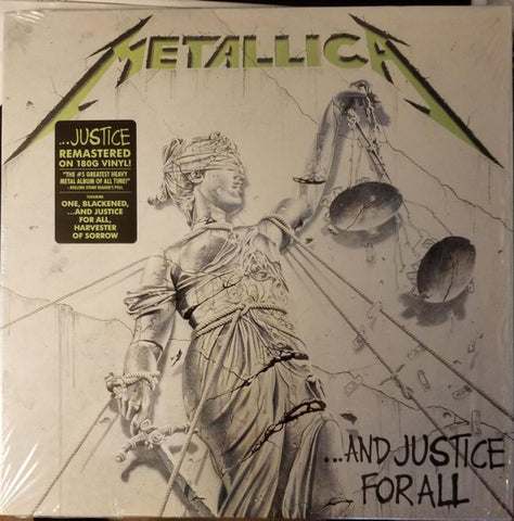 ARTIST:  Metallica<br>VINYL LP TITLE:  And Justice For All