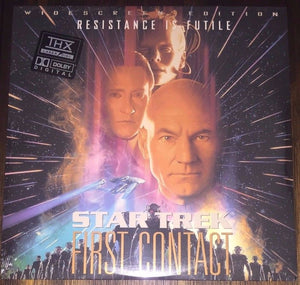 ACTORS: Patrick Stewart, Jonathan Frakes<br>LASER DISC TITLE: Star Trek: First Contact - Mediaworks Records