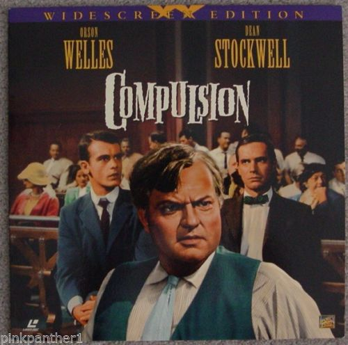 ACTORS: Orson Welles, Dean Stockwell<br>LASER DISC TITLE: Compulsion - Mediaworks Records