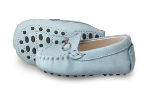 Lucca Sky Blue Baby Loafers
