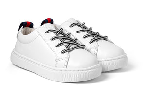 Boys leather white sneakers - Oscar's for Kids