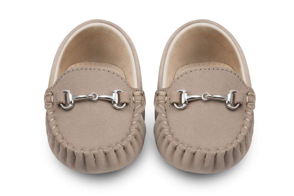 Lucca Brown Baby Loafers