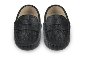 Boys black leather loafers - Oscar's for Kids