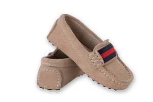 Boys Beige Suede Loafers - Oscar's for Kids
