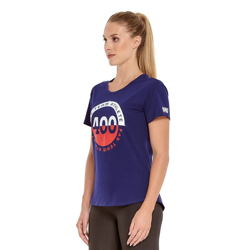Womens Team 400 Soft Q-Dry Tee