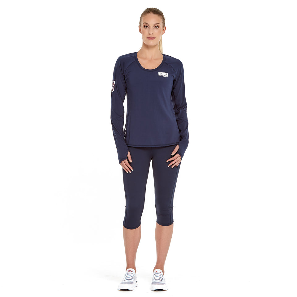 Womens Uniform Brushed Q-Dry Long Sleeve