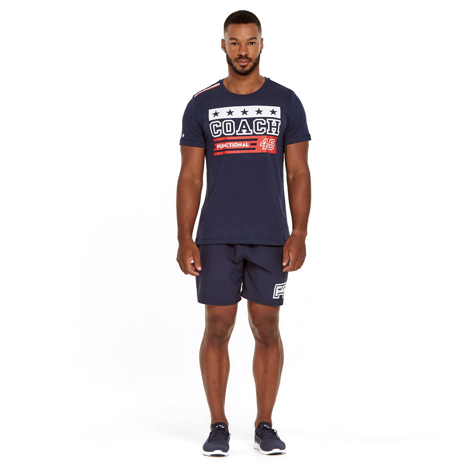 Mens Uniform Soft Q-Dry Coach Tee