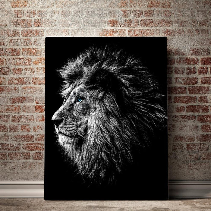 Blue Eyed Lion Canvas