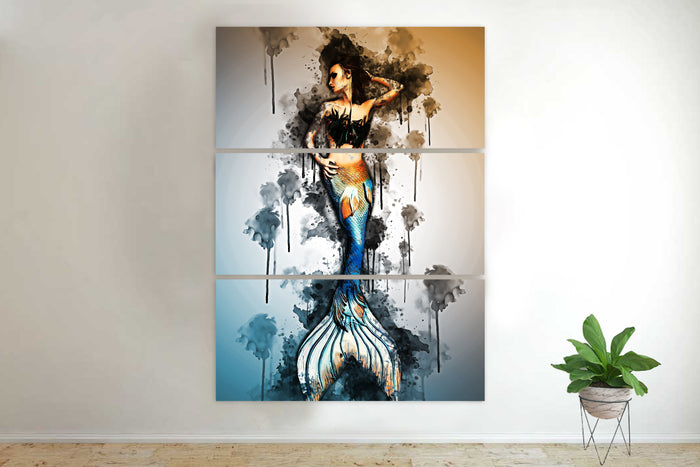 Abstract Mermaid Canvas