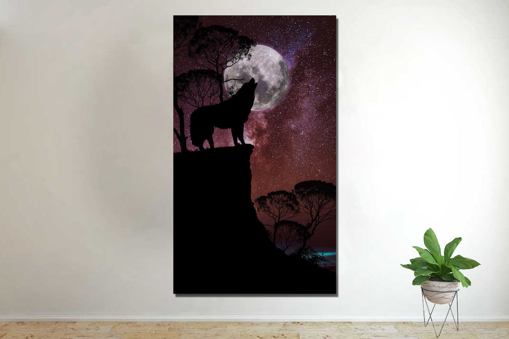 Wolf In The Night Canvas