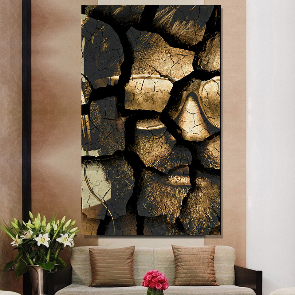 3 PC Gold Rush Abstract Canvas