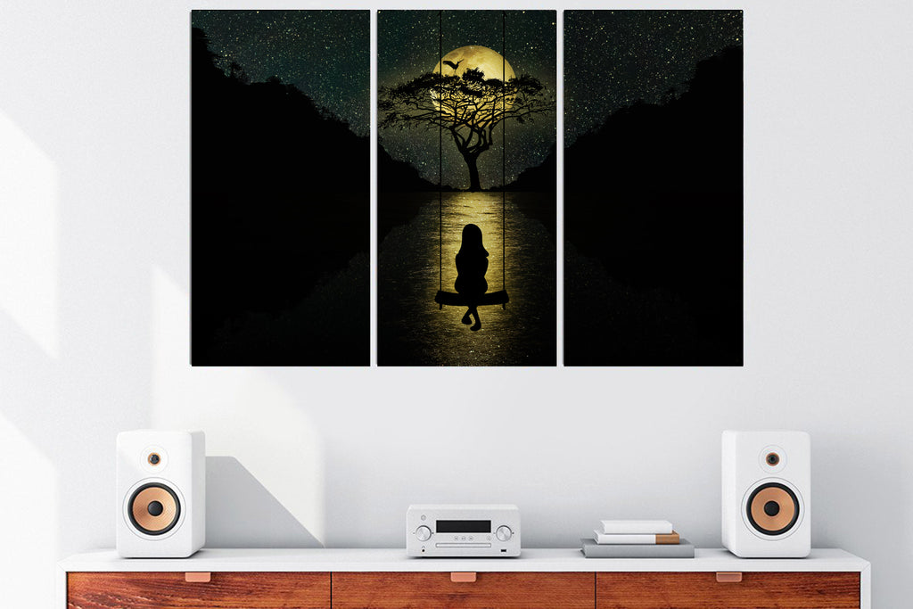 Midnight Moonlight Canvas