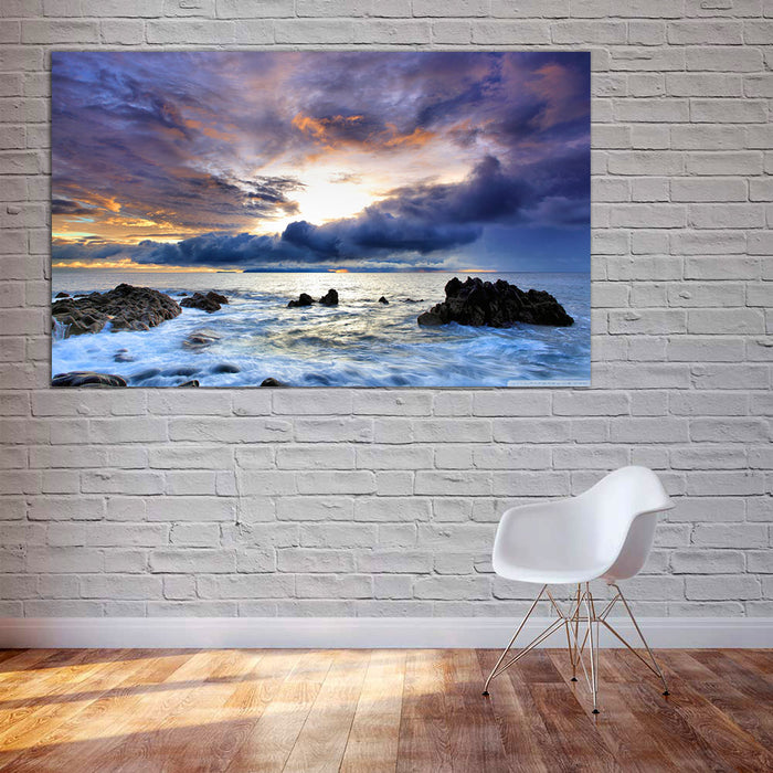 Cloudy Seascape Canvas