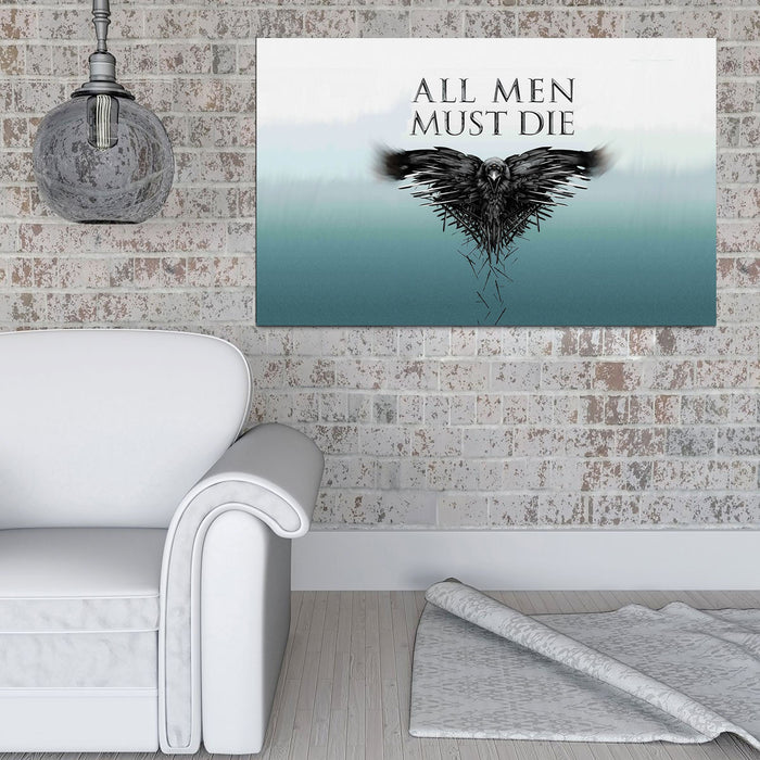 All Men Must Die Canvas