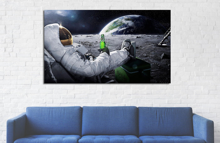 Astronaut in Space Canvas