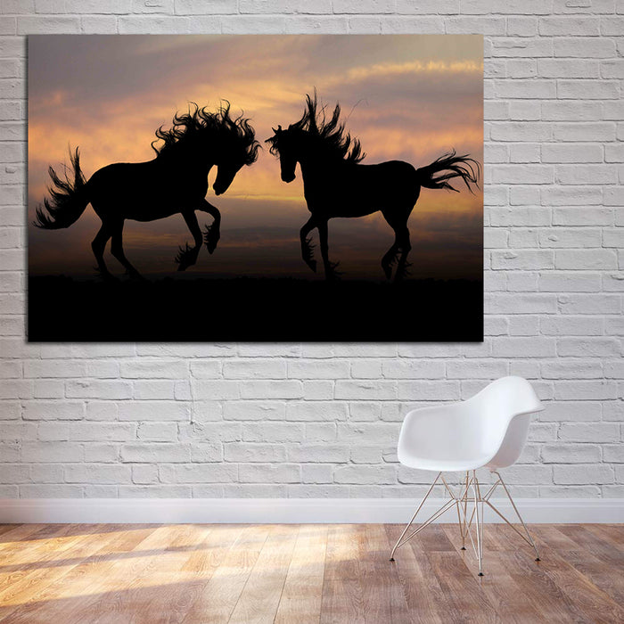Black Horse Canvas